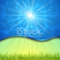 Vector beautiful spring background with curve