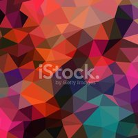Vector retro pattern of geometric shapes. Colorful mosaic banner