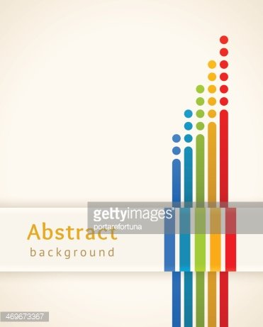 Colored stripes with circles. Abstract background.