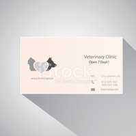 Calling card of veterinary clinic.