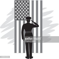 Soldier Salute Flag