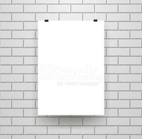 blank poster template on seamless brick wall stock vectors clipart me