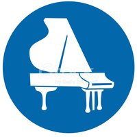 Piano,Grand Piano,Blue,Symb...