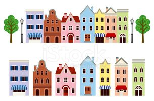 Town set, ,Isolated
