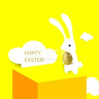 Rabbit - Animal,Yellow,Happ...