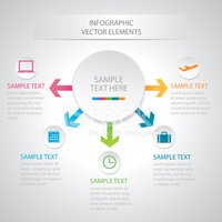 Illustration of business infographic diagram