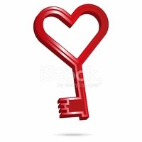 Love,Heart Shape,Key,Plasti...