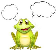 frog with an empty thought