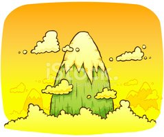 Mountain,Landscape,Cartoon,...