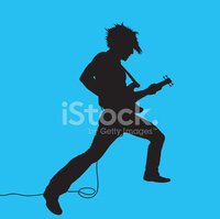 Guitar,Silhouette,Playing,M...
