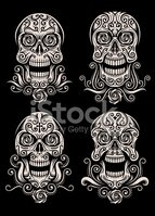 Day Of The Dead,Human Skull...