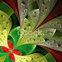 Stained Glass,Green Color,B...
