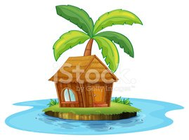 Hut,Water,Backgrounds,White...