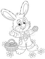 Easter Bunny,Black And Whit...
