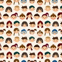 Pattern,Child,Human Face,Li...