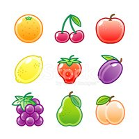 """Roundi"" Icon Set -  Fruit"