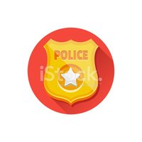 Vector Police Badge Icon Stock Vectors Clipart Me