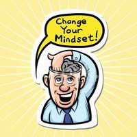 cartoon motivation sticker - change your mindset