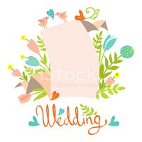 Wedding,Flower,Bird,Retro R...