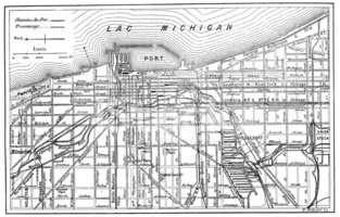 Antique Illustration of Chicago Map stock vectors  Clipartme