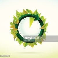 Clock,Leaf,Illustration,Vec...