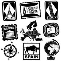 Spain,Postage Stamp,Luggage...
