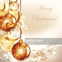 Elegant Christmas background with golden baubles