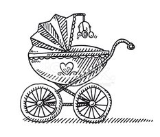 Baby Carriage,Doodle,Sketch...