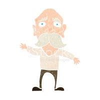Worried man avatar stock vector. Illustration of expression - 107518874