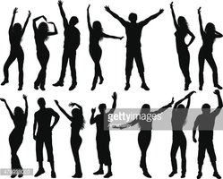 Dancing People Silhouettes stock vectors - Clipart.me