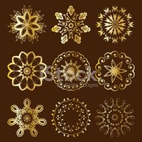 Floral Radial Gold Ornament