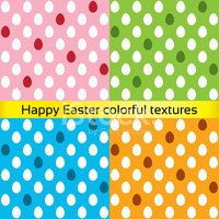 Happy easter colorful eggs seamless textures