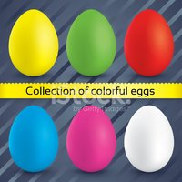 Happy easter colorful eggs (collection).