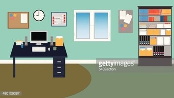 Vector Office Room With stock vectors - Clipart.me
