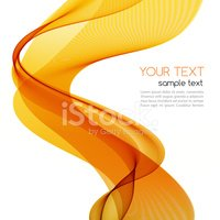 Abstract colorful background with orange wave
