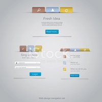 Web design navigation set