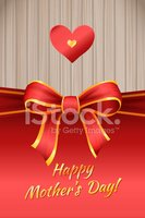 Happy Mother's Day Bow Greeting Card