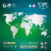 World Map,Abstract,Vector,S...