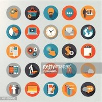 Infographie icon set vector