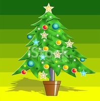 Ilustration,Christmas,Tree,...