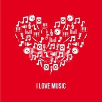Music,Musical Note,Heart Sh...