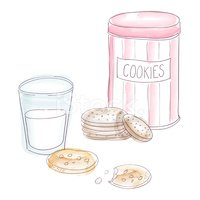 Can,Cookie,Milk,Doodle,Choc...