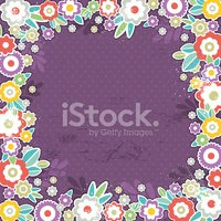 purple background of color flowers