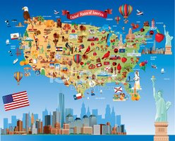 USA,Cultures,Map,New York C...