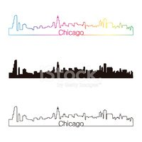 Chicago,Urban Skyline,Outli...