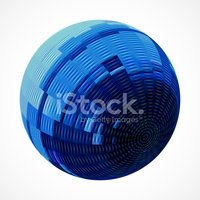 Striped,Sphere,In A Row,Si...