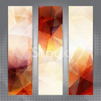 Abstract geometric invitations or banners