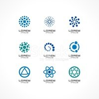 Set of icon design elements. Abstract logo ideas for business