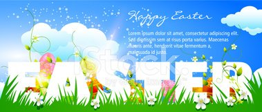 Banner,Placard,Easter,Invit...