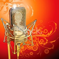 Microphone,Studio,Gold Colo...